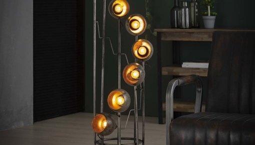 Diverse soorten vloerlampen