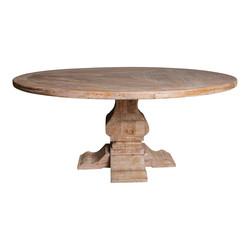 Elm White iepenhout dinertafel rond 180 cm