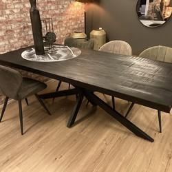Eetkamertafel Zwart 260 x 100 cm