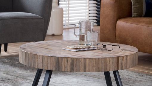 Nieuwe salontafel? Kies eens voor wat anders en ga voor een salontafel die rond is!