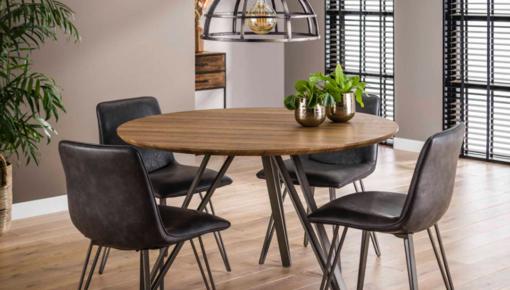 Hoeveel stoelen passen er aan een ronde tafel?