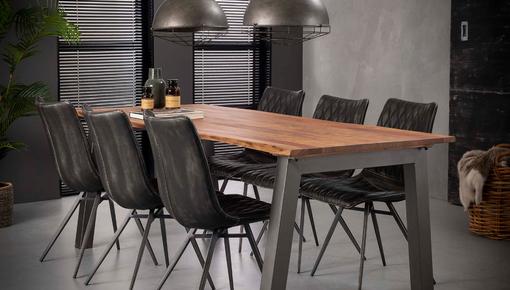Eetkamertafels met een tafelblad van Acaciahout