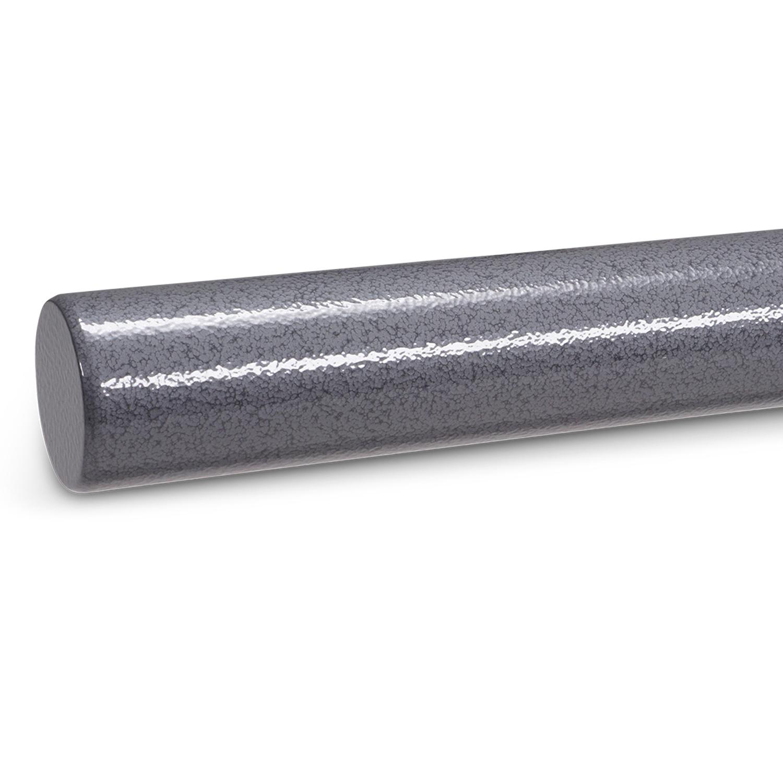 Trapleuning hamerslag gecoat rond - voorzien van een grijze hamerslag look poedercoating