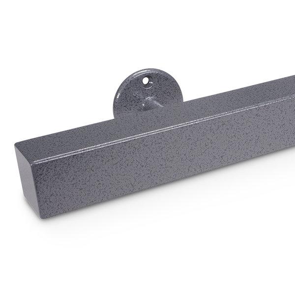 Trapleuning hamerslag gecoat vierkant 40*40 incl. dragers TYPE 4