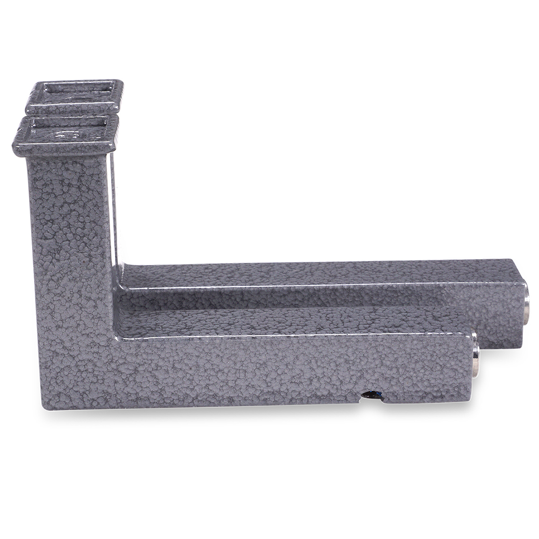 Trapleuning hamerslag gecoat vierkant 40*40 incl. dragers TYPE 11 - voorzien van een grijze hamerslag look poedercoating