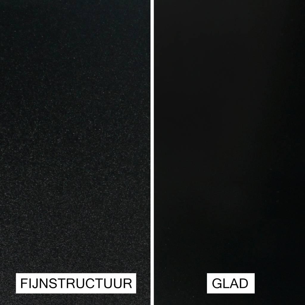 Leuninghouder zwart gecoat TYPE 4 vierkant - zwarte poedercoating RAL 9005