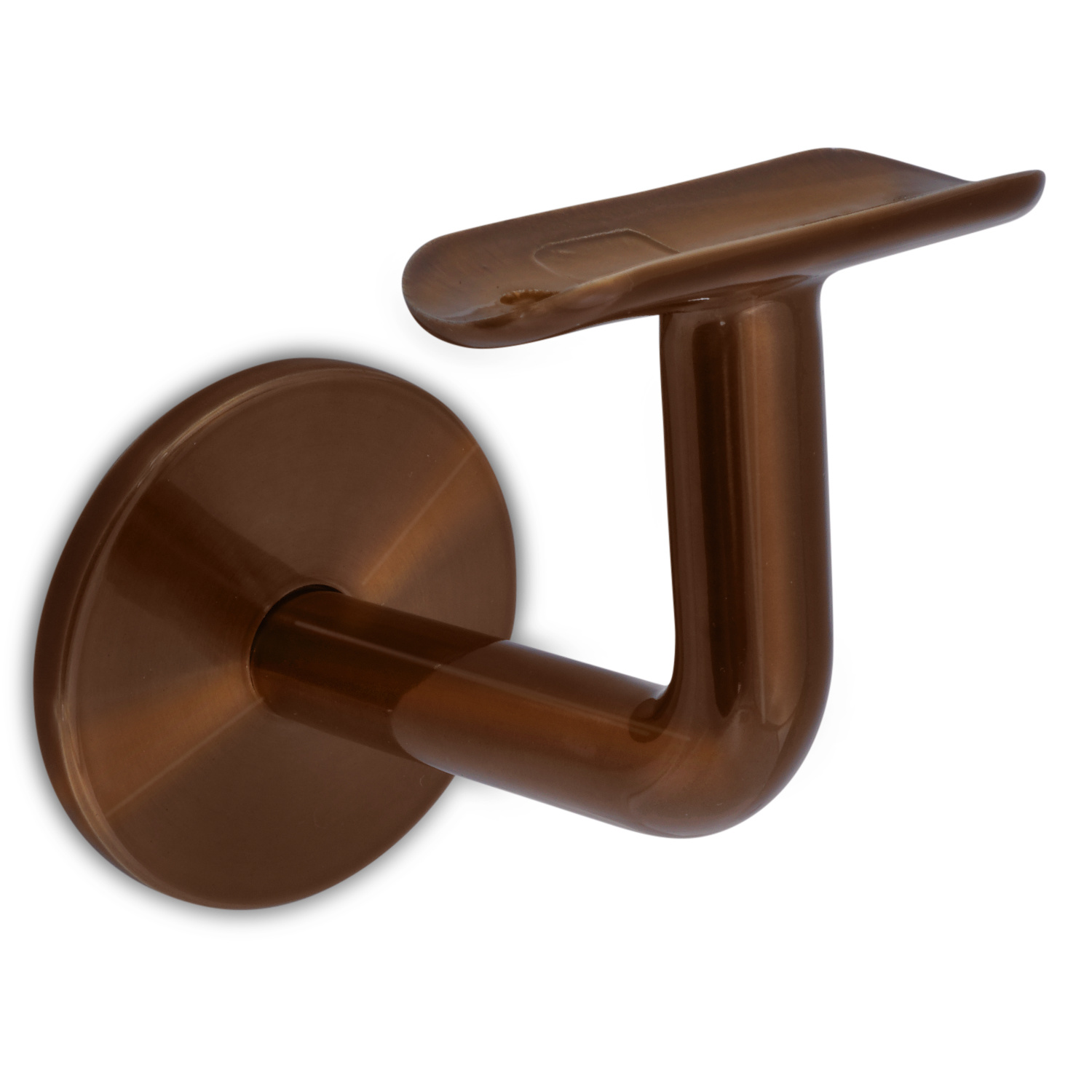 Trapleuning brons gecoat rond incl. dragers TYPE 3  - messing - goud - brons poedercoating