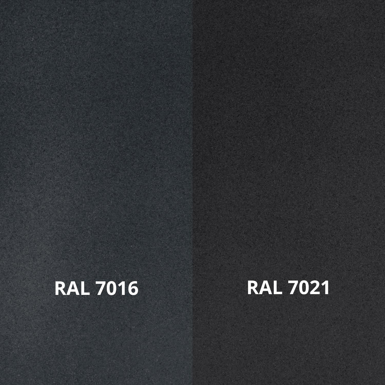 Trapleuning antraciet - voor buiten - fijnstructuur gecoat vierkant 40*20  incl. dragers TYPE 3 - incl. dubbele donkergrijze poedercoating