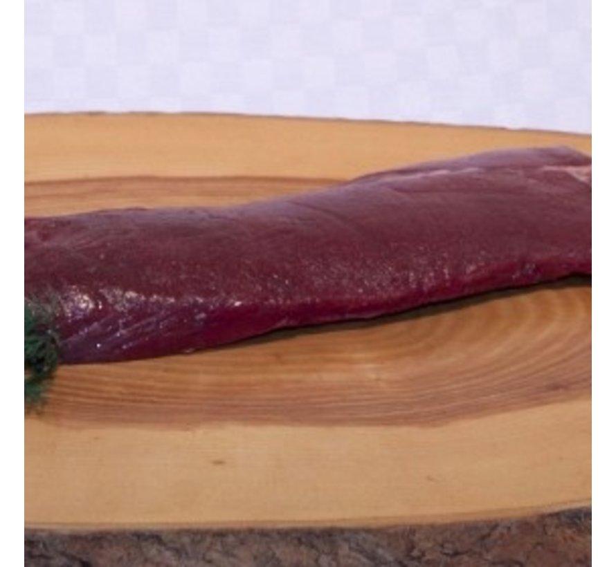 GOUD(H)EERLIJKE Herten-rugfilet,  ±  350 Gram 100% puur mals Bio vlees