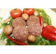 Wildspecialiteiten Ree-burger,   4 * 125 Gram 100% Bio 100% Ree