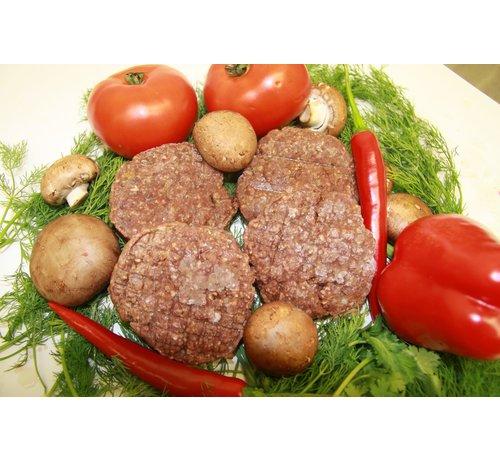 Wildspecialiteiten Ree-burger, 4 * 125 Gram