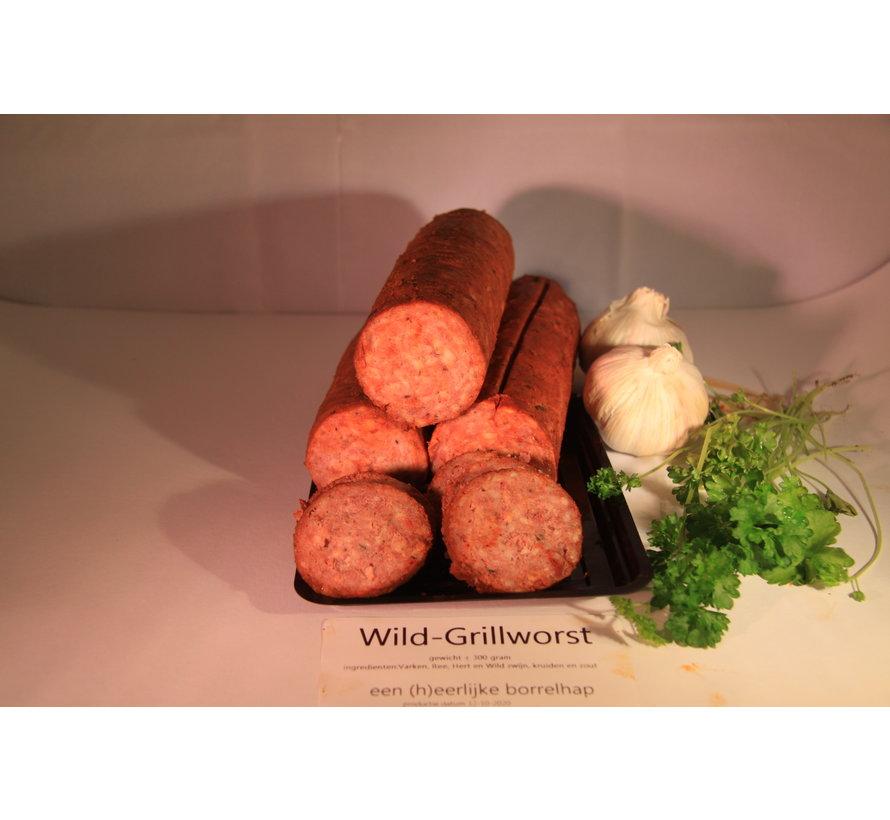 Grillworst van GOUD(H)EERLIJK wild ± 300 gram
