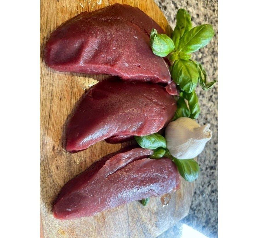 Ree Biefstuk, ± 250 gram nu € 13,50 of 3*350 gram voor € 49,50 uit de vrije natuur, GOUD(H)EERLIJK