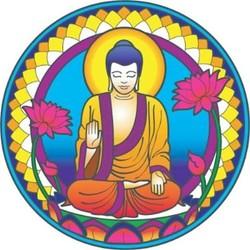 Raamsticker Boeddha Natuur