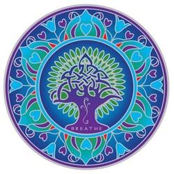 Raamsticker Aarde Mandala -- 14 cm