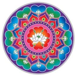 Raamsticker Lotushart Mandala -- 14 cm