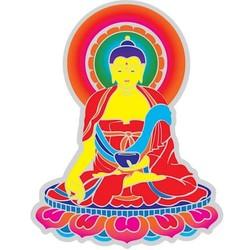 Raamsticker Boeddha -14 cm