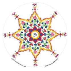 Raamsticker Ohm Bloem mandala - 10.5 cm *UK*