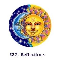 Raamsticker Zon en Maan - 10.5 cm