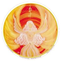 Raamsticker Healing Angel Fire Energy