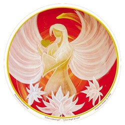 Raamsticker Lotus Angel of Love - 10.5 cm