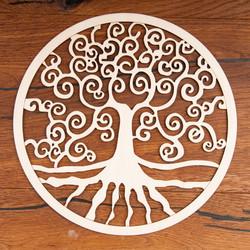 Levensboom van berkenhout (24 cm)