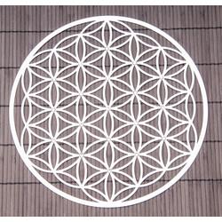 Flower of Life van RVS met kristallen