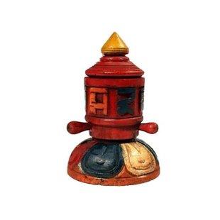 Gebedsmolen tafelmodel hout