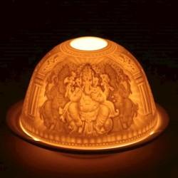 Sfeerlicht porselein Ganesha