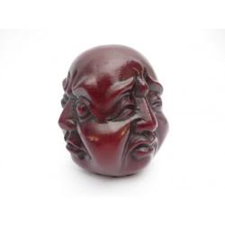 Vier gezichten boeddha rood middel