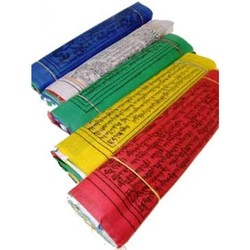 10 Tibetaanse gebedsvlaggen koord M