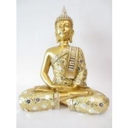 Thaise boeddha mediterend goud