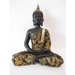 Thaise boeddha mediterend goud/zwart