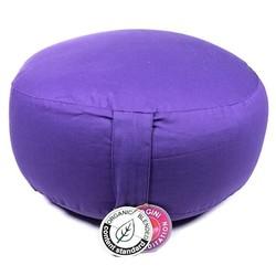 Meditatiekussen violet bio katoen