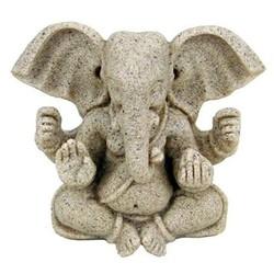 Ganesha beeld resin met zandstructuur