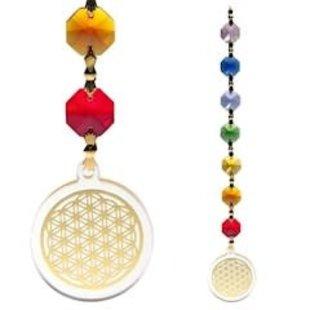 Feng Shui Bloem des Levens hanger goudkleurig