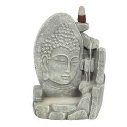 Boeddha Backflow Wierookbrander grijs