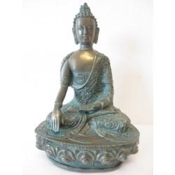 Brons/Groen Mediterende Boedha groot III