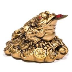 Minibeeldje Feng Shui kikker goud