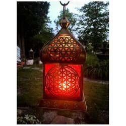 Oriental Light Flower Messing Antique