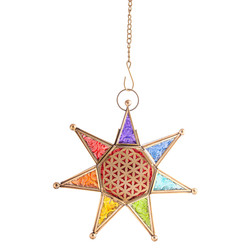Oriental Light Chakra Star with chain