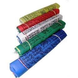 25 Tibetaanse gebedsvlaggen koord M