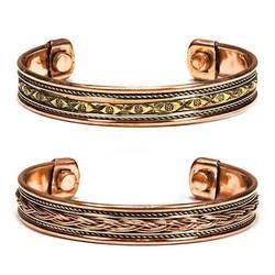 Armbanden magnetisch koper set 2