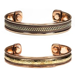 Armbanden magnetisch koper set 2 #