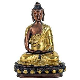 Boeddha Amithaba beeld tweekleurig