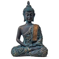 Boeddha in Meditatie antieke finish Thailand