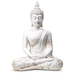 Boeddha in Meditatie wit Thailand