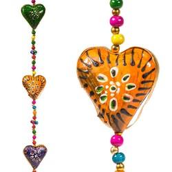 Decoratieve slinger hartjes kunststof