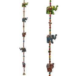 Decoratieve slinger houten Olifantjes
