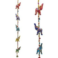 Decoratieve slinger stoffen Olifantjes